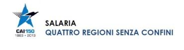 CAI 150′ – SALARIA: 4 regioni senza confini – inizio eventi