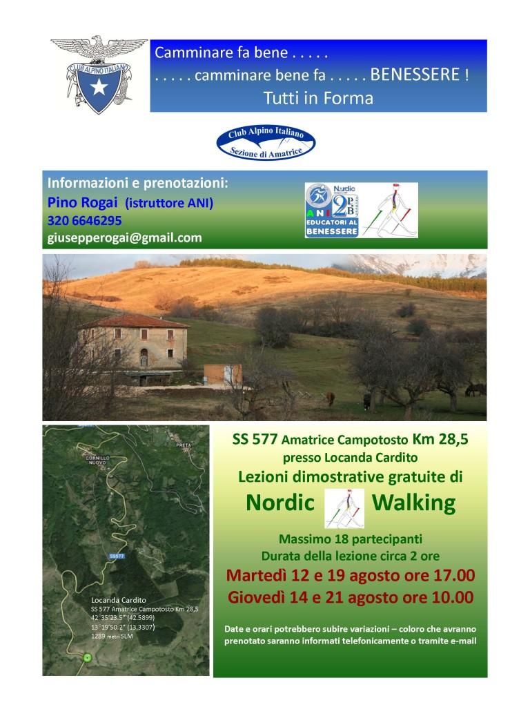 Locandina Nordic Walking CAI Agosto 2014