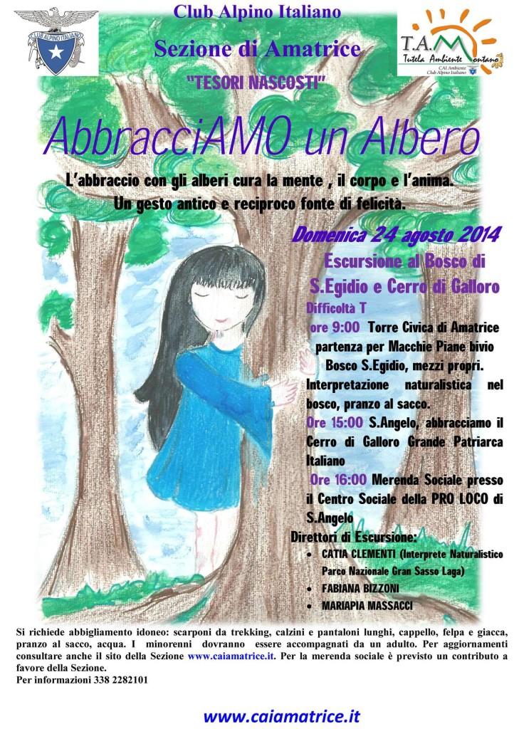 manifesto Abbracciamo un Albero 24-8-2014