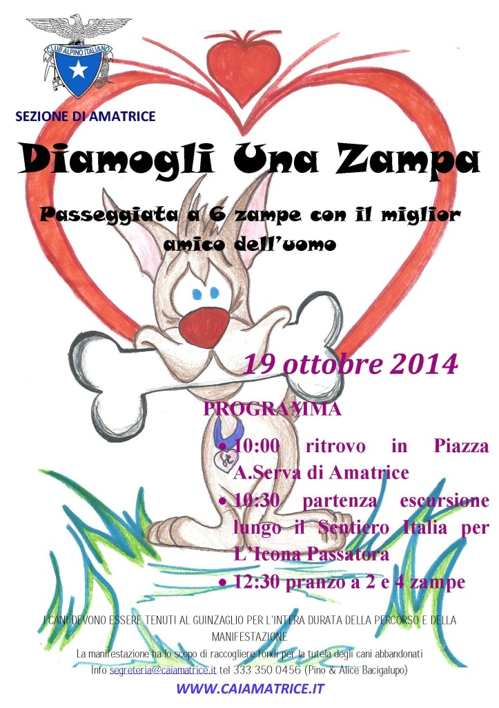 manifesto diamogli una zampa 19-10-2014