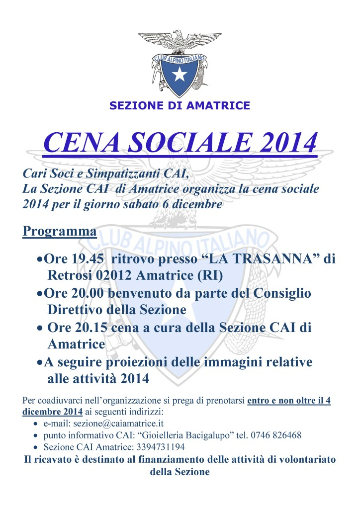 cena sociale 2014