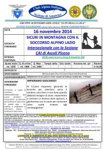 sicuri in montagna 16-11-2014 giornata con il soccorso alpino