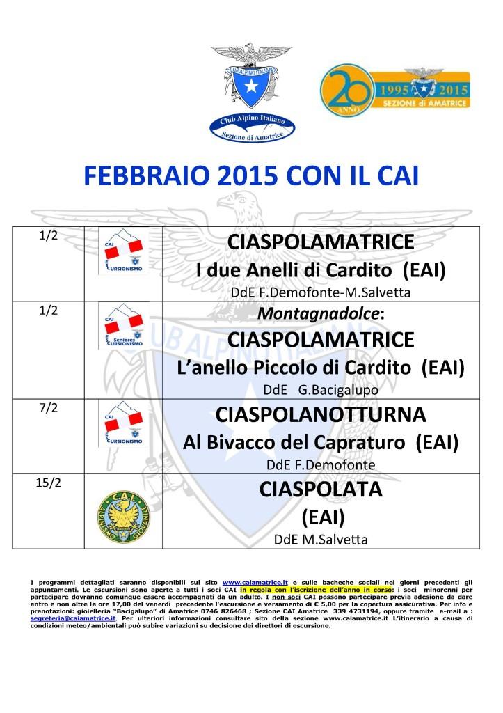 febbraio 2015 con il CAI