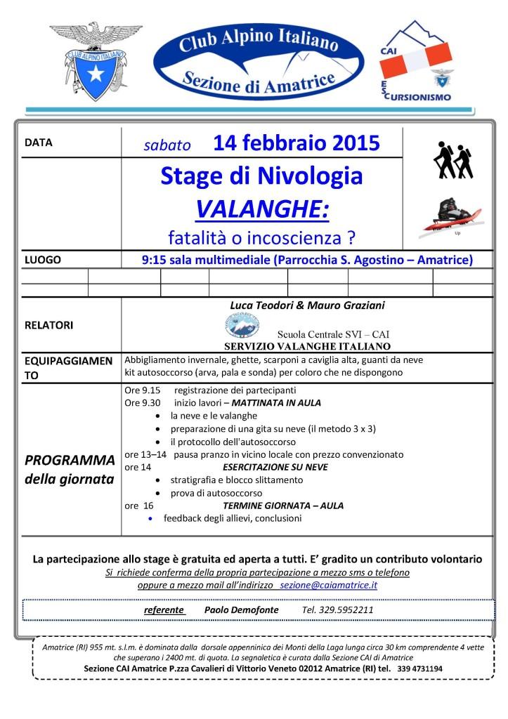 2015.02 locandina stage NIVOLOGIA