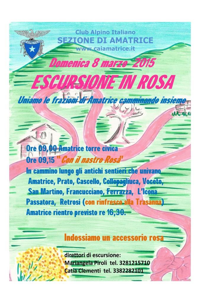 escursione in rosa 8-3-2015