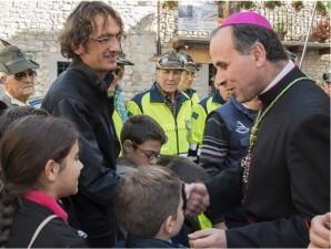 Monsignor Pompili incontra i giovani aquilotti del CAI Amatrice