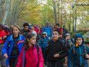 Il Presidente generale del CAI Vincenzo Torti ad Amatrice con i bambini dell'alpinismo giovanile