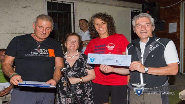 Il CAI L'Aquila solidale con Amatrice: una donazione ed una cena con gli amici amatriciani