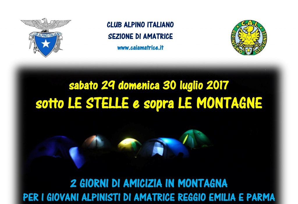 Sotto le stelle e sopra le montagne: AG Amatrice, Parma e Reggio Emilia assieme in una intersezionale solidale