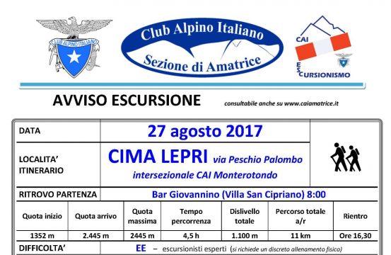 Cima Lepri via Peschio Palombo