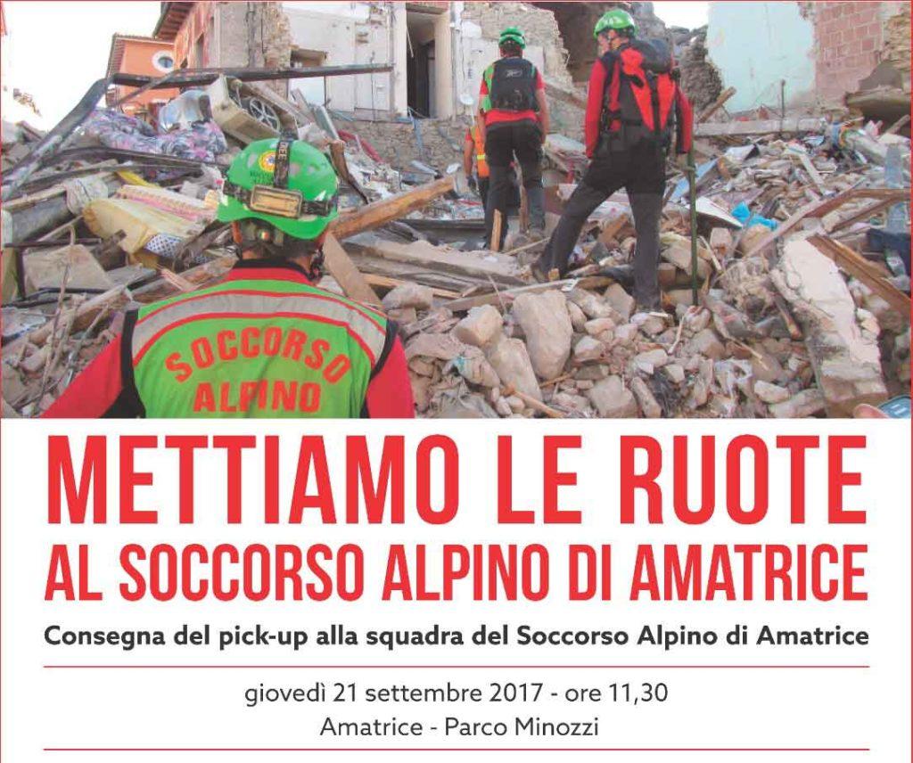 Consegna nuovo mezzo al Soccorso Alpino Squadra di Amatrice.