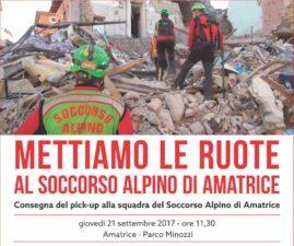 Consegna nuovo mezzo al Soccorso Alpino alla Squadra di Amatrice.