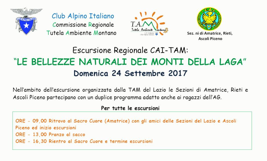"""Escursione interregionale TAM – AG """"Le Bellezze naturali dei Monti della Laga"""""""