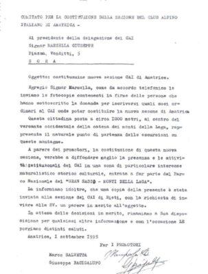 Lettera di fonazione Sezione