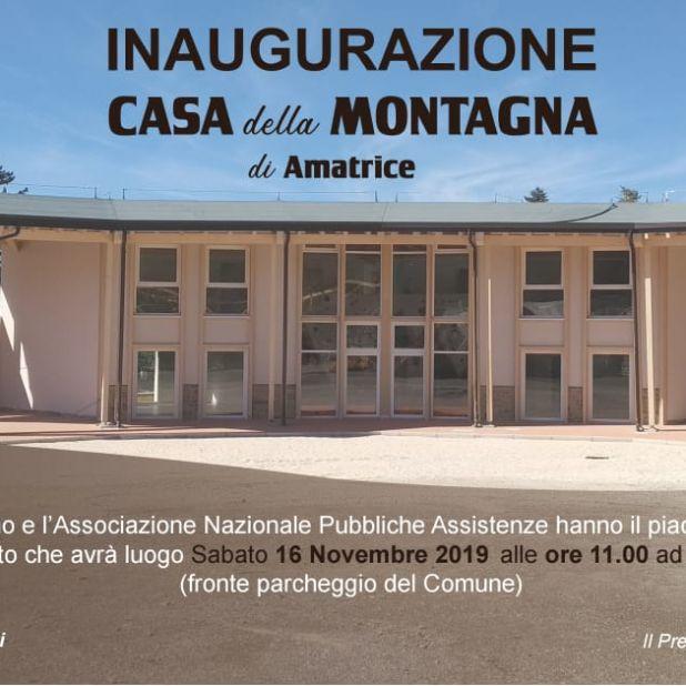 """Inaugurazione """"Casa della Montagna""""  [Sabato 16 Novembre 2019]"""